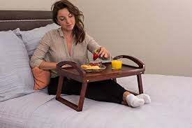 Bed Trays With Legs Birdrock Home Wooden Lap Desk Bed Tray Breakfast Bed Tray With