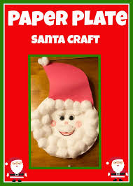 christmas craft paper plate cotton ball santa so cute paper