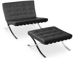 siege capitonné fauteuil avec ottoman capitonné cuir noir cubik lestendances fr