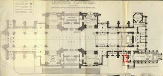 floor plan of the liverpool cathedral atrium and staircase