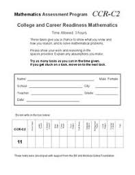 college and career readiness mathematics c2 10th 12th grade