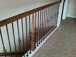 home depot stair railings interior install iron balusters new construction interior decorative