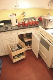 blind corner kitchen cabinet inserts blind corner previously there was not any cabinet space in