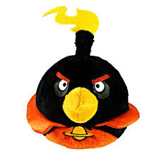 amazon com angry birds space 8 inch black bird with sound toys