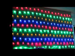 led rgb multi color net mesh lights hang on large bush