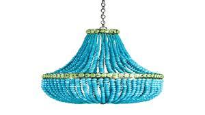 turquoise beaded chandelier blue beaded chandelier engageri