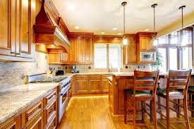 stained kitchen cabinets with hardwood floors brilliant kitchen with stained wood cabinets and hardwood floor 99823154