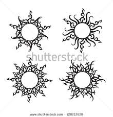 small abstract sun tattoos search