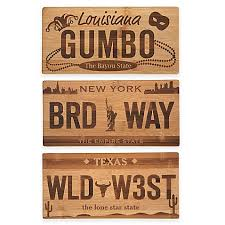cutting board plate license plate bamboo cutting board bed bath beyond