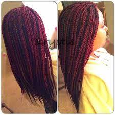 medium single braids burgundy and 27 color x pression hair i