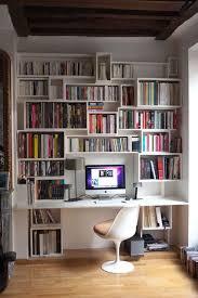 meuble bibliothèque bureau intégré meuble bureau bibliotheque mobilier bureau design lepolyglotte