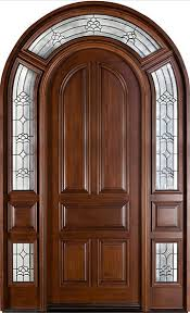 mahogany solid wood custom door single with 2 sidelites doors