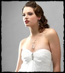 wedding dress necklace choosing wedding jewelry necklaces and necklines usabride