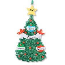 personalized ornaments glitter tree christmas personalized ornaments lillian vernon
