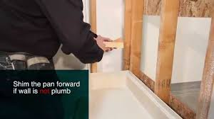 Ez Shower Pan by How To Install Standard Shower Pans Best Bath Youtube