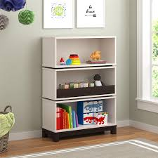 kids white bookcase amazon com cosco kids furniture leni storage bookcase white and