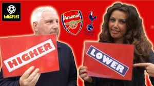 Arsenal Tottenham Meme - arsenal v tottenham 2014 higher or lower quiz youtube