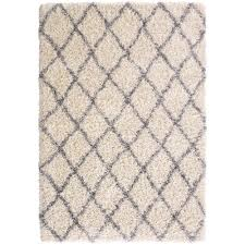 Moroccan Trellis Area Rug by Designera Collection Trellis Design Ivory And Grey 7 Ft 10 In X