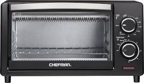 Toaster Oven Temperature Control Chefman 4 Slice Toaster Oven Black Rj25 4 Best Buy
