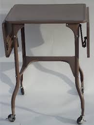 Metal Shop Desk Typewriter Table Industrial Metal Desk Typewriter Stand Cart