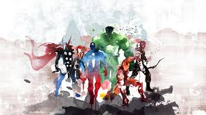 avengers watercolor painting hd
