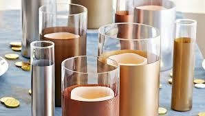 metallic painted vases