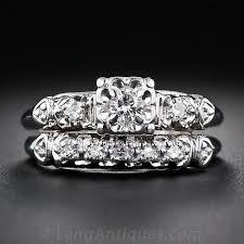 wedding set vintage diamond wedding set