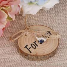 wedding ring holder 2018 wedding ring bearer wood ring pillows slice rustic wooden