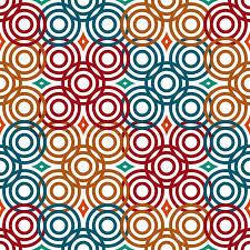 vector background modern pattern geometric vector pattern in retro style modern stylish circle