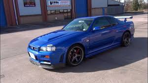 nissan sports car blue nissan skyline r34 gtr bayside blue youtube
