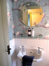 bathroom wallpaper ideas best 25 small bathroom wallpaper ideas on half