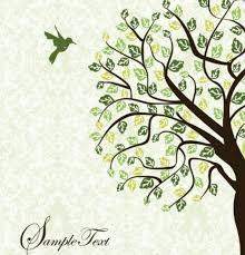 free vector green tree and bird illustration 04 titanui