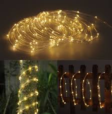 Starry String Lights On Copper Wire by Amazon Com Solar Rope Tube 100 Led Starry String Garden Light 17