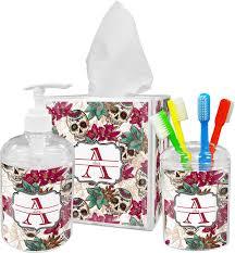 sugar skulls u0026 flowers toothbrush holder personalized potty