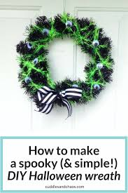 Make Halloween Wreath by How To Make A Spooky And Simple Diy Halloween Wreath Cuddles