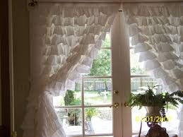 Burlap Ruffle Curtain Interior Window Accessories Exciting White Ruffle Curtains