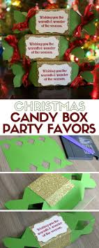 christmas table favors to make how to make christmas candy box party favors diy paper crafts
