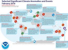 North America Climate Map by Global Climate Report February 2016 State Of The Climate