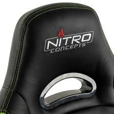 Comfy Gaming Chairs Nitro Concepts C80 Comfort Gaming Stuhl Schwarz Grün