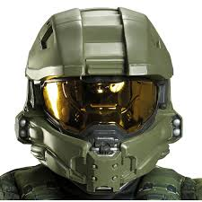 halloween express johnson city halo master chief full helmet for kids buycostumes com