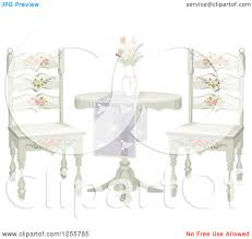 Shabby Chic Table by Clipart Of A Floral Shabby Chic Table And Chairs Royalty Free