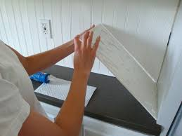 How To Install A Tile Backsplash In Kitchen by Remodelaholic Kitchen Backsplash Tiles Now Beadboard