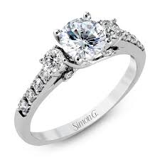 classic engagement ring 18k white gold circular halo engagement ring duchess