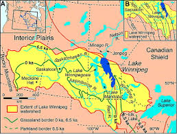 Manitoba Canada Map by Uplift Driven Expansion Delayed By Middle Holocene Desiccation In