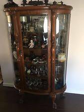 Display Hutch Antique Curio Cabinet Ebay
