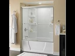 Shower Door Rails How To Install Delta Tub And Shower Sliding Glass Doors
