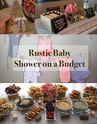 how to throw a rustic themed baby shower brunch on a budget