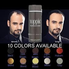 toppik black brown blond hair thickening powder hair building