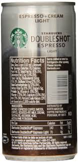starbucks doubleshot vanilla light starbucks doubleshot energy drink nutrition facts ace energy