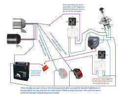 wiring diagram led motorcycle light motor headlight color code